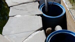 pond design barrel filter